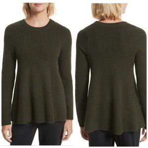 Jason Wu Grey 100% Wool Knit Trapeze Sweater